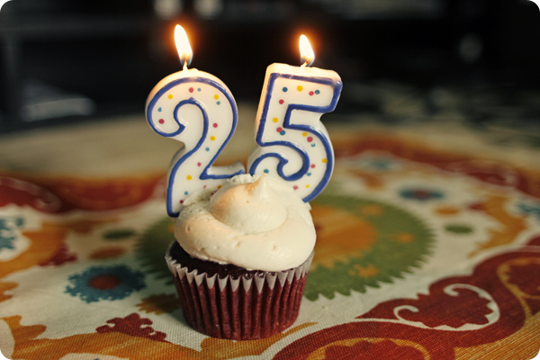 Red Velvet 25th Birthday Vegan Cupcake
