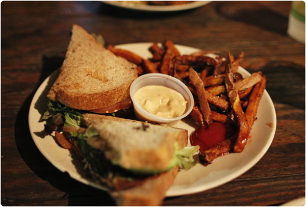 Vegan BLT at The Cove