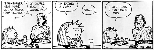 Vegetarian Calvin and Hobbes by Bill Watterson