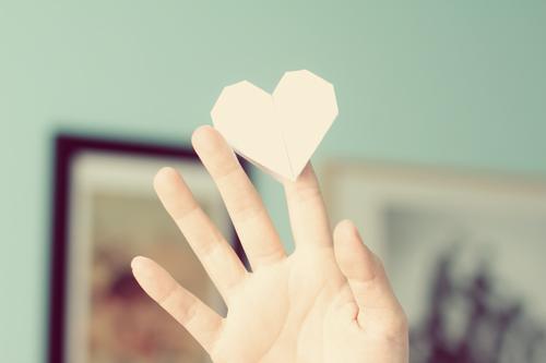 Veggie Angie Origami Heart