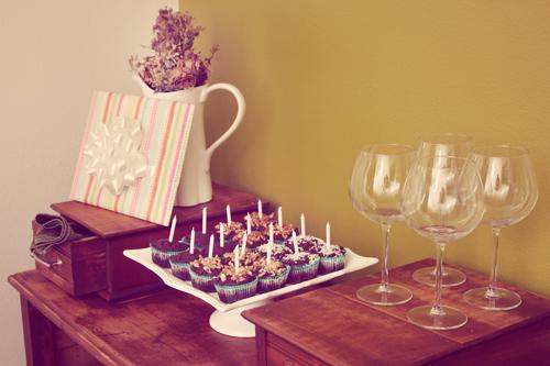 Cupcakes on Sarah's new Buffet