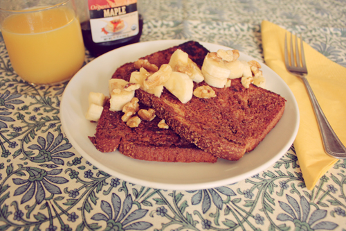 Flaxseed French Toast by Veggie Angie