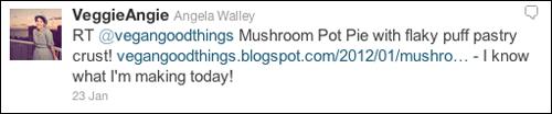 Mushroom Pot Pie Tweet