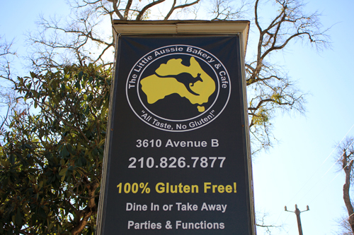 Little Aussie Bakery & Cafe Sign