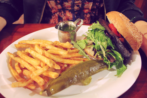 Baba Yega's Veganized Portabella Sandwich