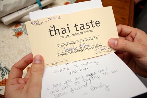 Thai Taste Giftcard