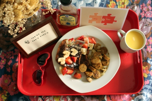 Brunch in Bed for me and my hubby