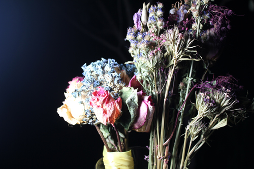 Dried Flower Center Piece from Family Wedding Bouquets