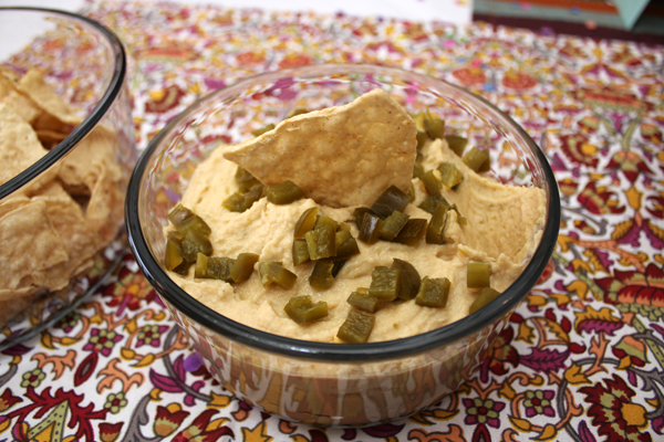 Homemade Jalapeno Hummus