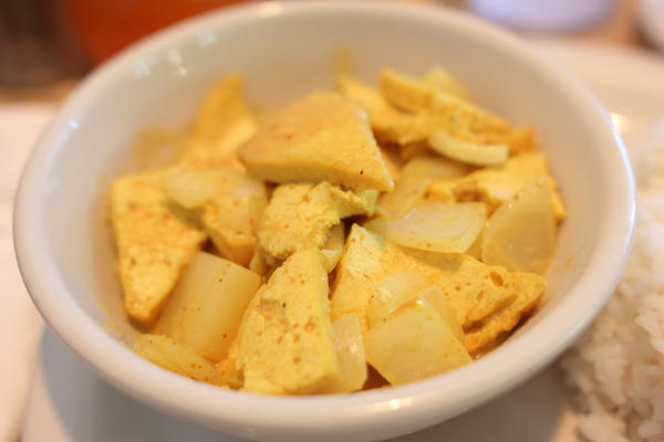 Tofu Golden Curry at Thai Topaz
