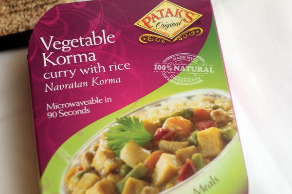 Patak's Vegetable Korma Meal