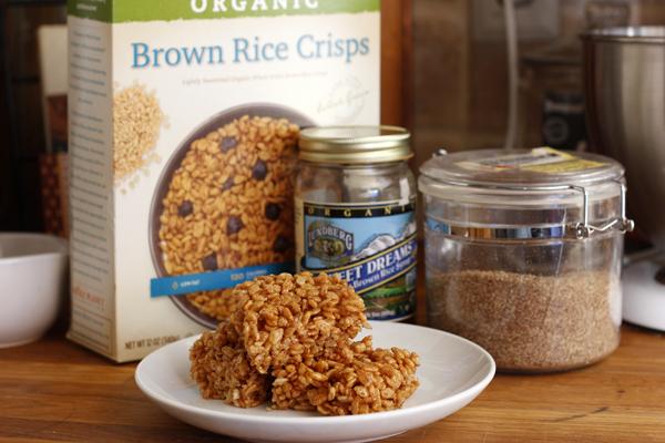 Vegan Brown Rice Crispy Treats - Ingredients