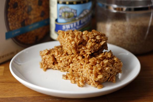 Vegan Brown Rice Crispy Treats