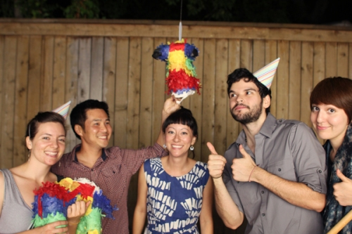 Group photo with the Birthday Piñata!