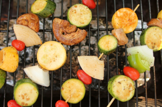 Vegetable Skewers on the Grill