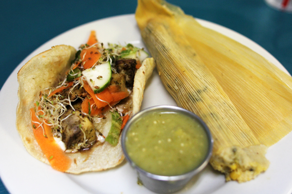 Bahn Mi Taco and Southwestern Tamale - so good!