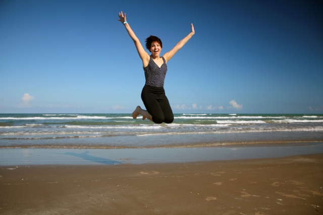 Jumping photos in South Padre
