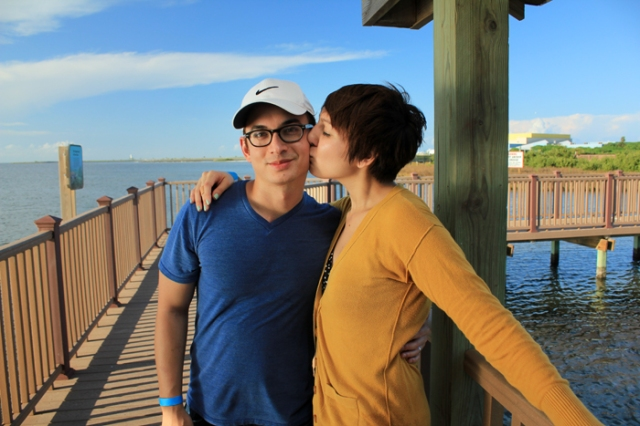 Mark and I at the South Padre Island Birding & Nature Center