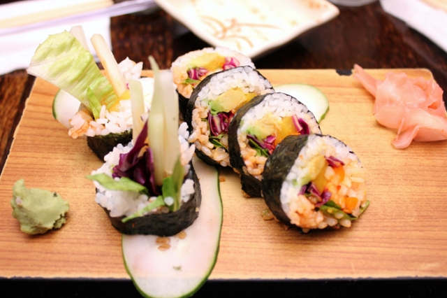 Vegetable Sushi at Nami Cuisine