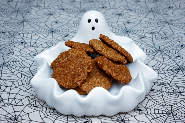 Ghostly Pumpkin Oatmeal Cookies