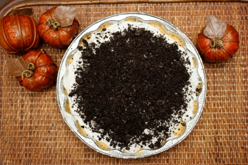 Pumpkin Coconut Cream Oreo Pie