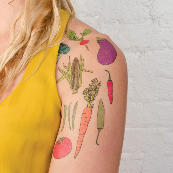Vegetable Tattoo Set