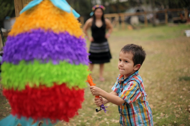 Dylan hits an Easter Piñata