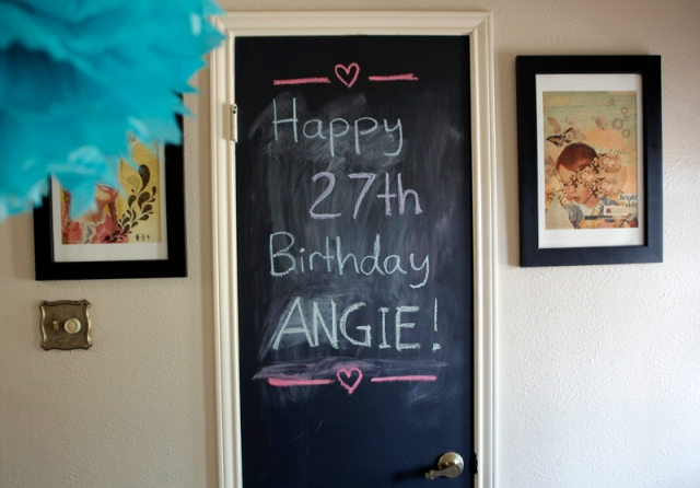 Chalk Birthday Sign by Mark