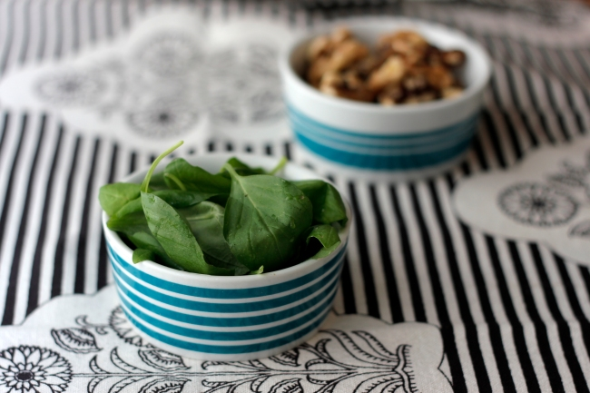 Fresh Basil and Walnuts for Pesto