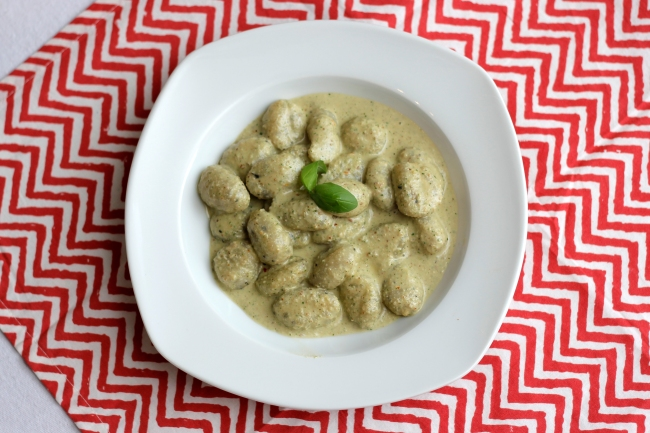 Yummy Basil Gnocchi with Pesto