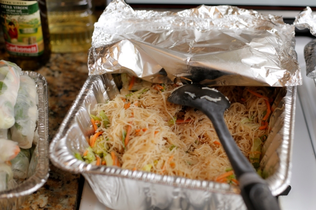 Vegan Filipino Pancit catered by Mark's Uncle