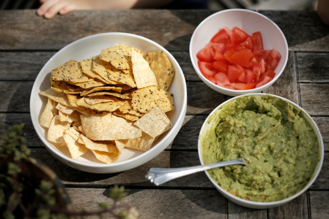 Guacamole and Tomato Appetizer