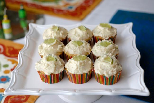 Margarita Inspired Vegan Cupcakes