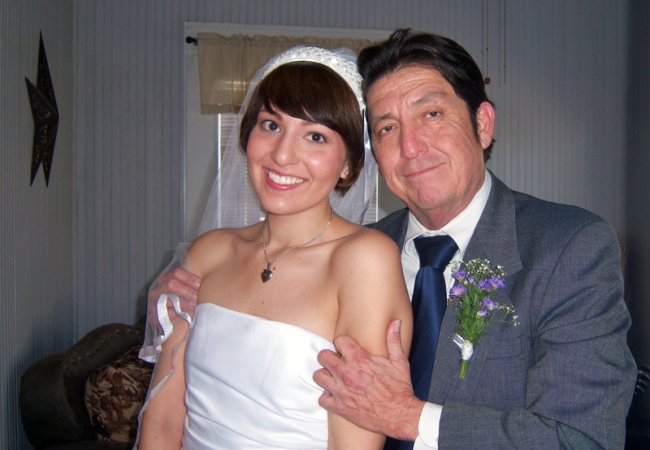 My Dad and I on my Wedding Day | #veggieangie