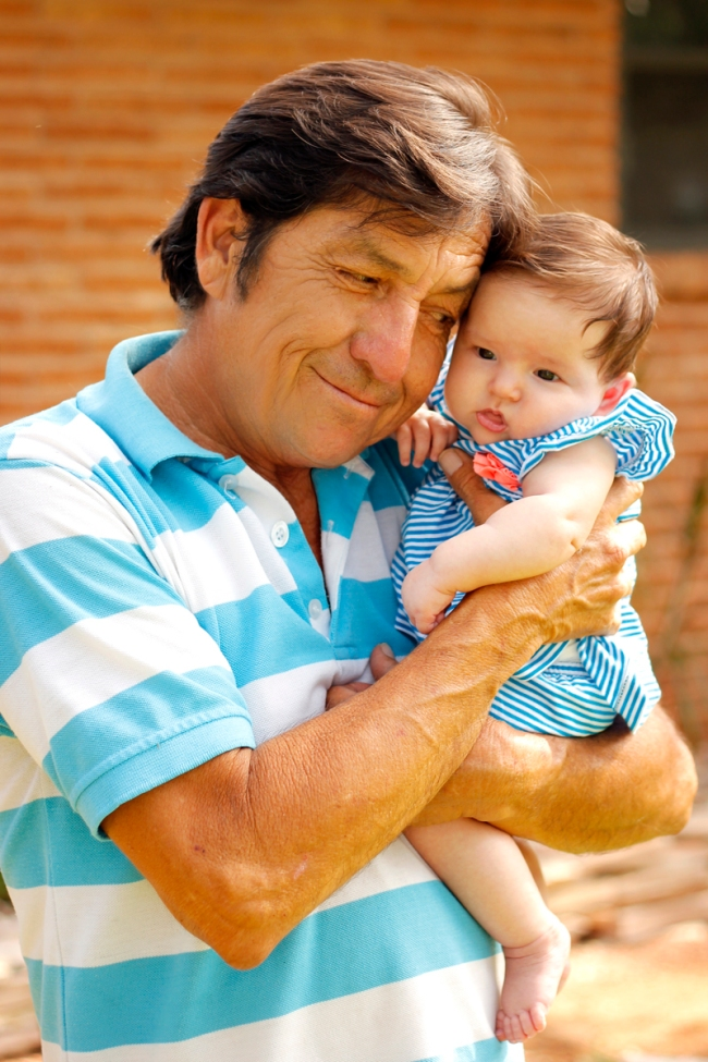 Grandpa with baby Lillian  | #veggieangie
