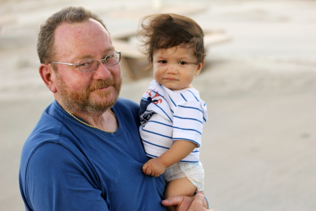 My Father-In-Law Richard with his Grandson Jackson | #veggieangie