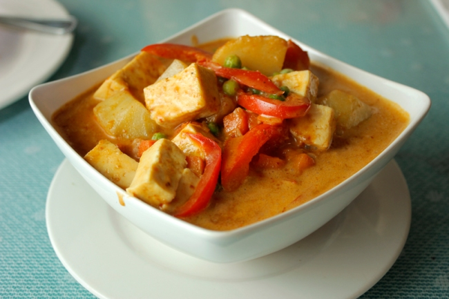 Yellow Curry Tofu at Truly Vegan