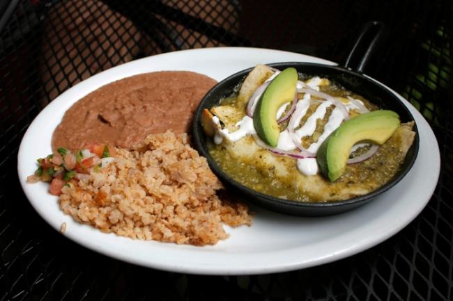 Verde Enchiladas at Radial Eats | #veggieangie