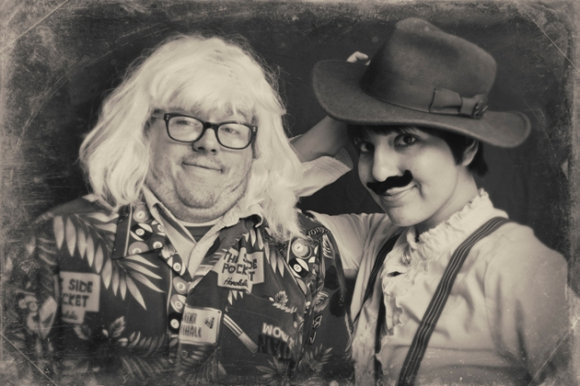 Jeremiah Teutsch and Angela Walley Halloween Photo Booth #veggieangie