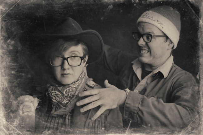 Jeremiah Teutsch and Ashley Halloween Photo Booth #veggieangie