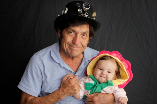 Luis Guerra with granddaughter Lillian James Lee #veggieangie