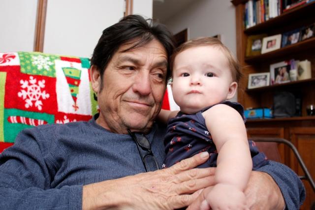 My Dad with my baby niece Lillian #veggieangie