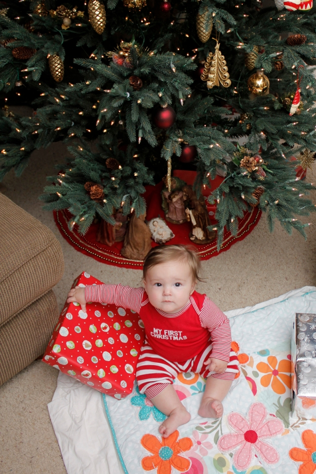 My niece Lillian Under the Christmas Tree #veggieangie