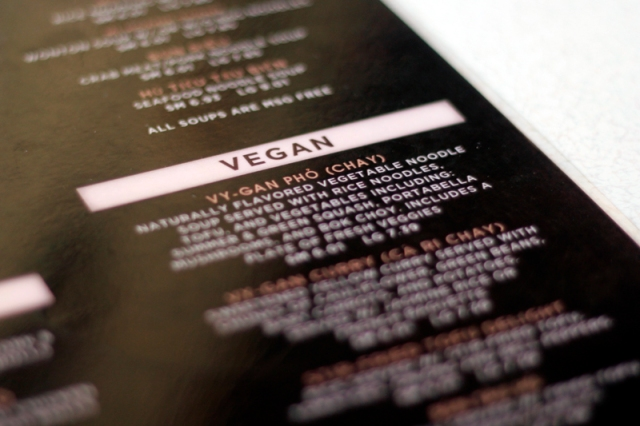 Vegan Menu at Houston's Cafe TH #veggieangie