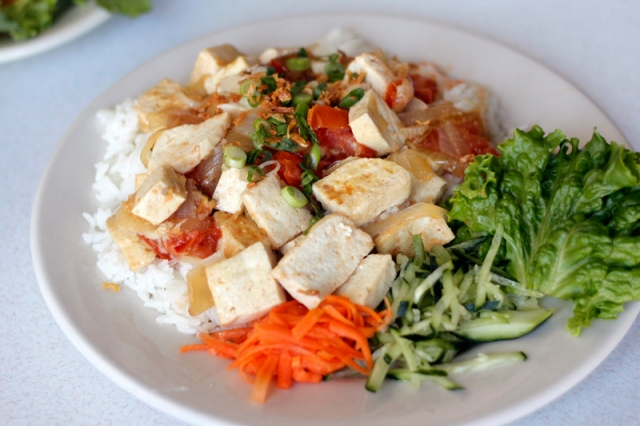 Stir-Fried Tofu Delight at Cafe TH #veggieangie