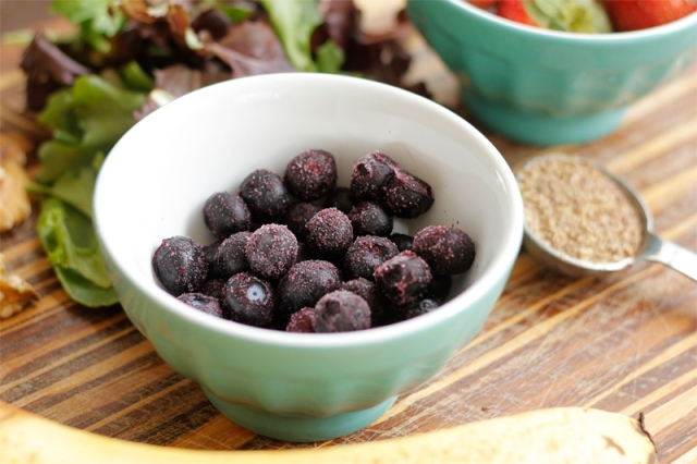 Frozen Blueberries #veggieangie