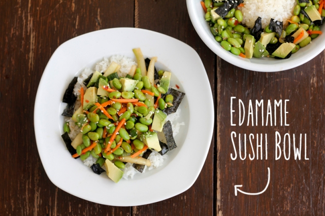 Edamame Sushi Bowl #veggieangie #vegan