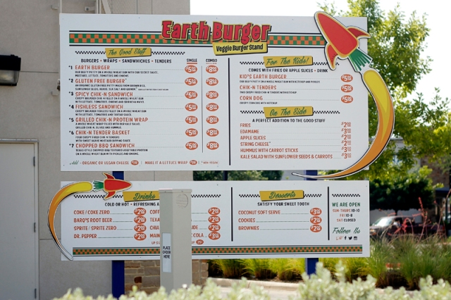 Earth Burger Menu #veggieangie