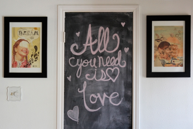 All You Need is Love Chalkboard #VeggieAngie